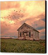 Abandoned Building In A Storm Canvas Print