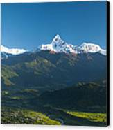 Annapurna Peak - Nepal Canvas Print by Ricardo Lisboa
