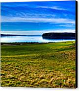 #2 At Chambers Bay Golf Course - Location Of The 2015 U.s. Open Tournament Canvas Print by David Patterson