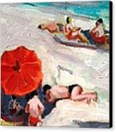 At The Beach Canvas Print by George Siaba