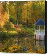 Autumn Gazebo Canvas Print by Joann Vitali