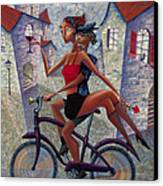 Bike Life Canvas Print by Ned Shuchter