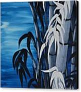 Blue Bamboo Canvas Print by Holly Donohoe