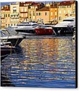 Boats At St.tropez Canvas Print