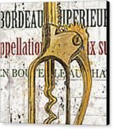 Bordeaux Blanc 2 Canvas Print