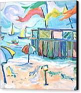 Buckroe Beach - En Plein Air Canvas Print