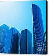 Business Skyscrapers Canvas Print by Michal Bednarek