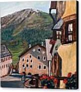 Casette In Montagna Canvas Print