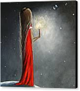 Christmas Candle By Shawna Erback Canvas Print by Shawna Erback