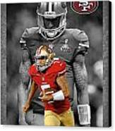 Colin Kaepernick 49ers Canvas Print by Joe Hamilton