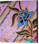 Colorful Batik Cloth Fabric Background  Canvas Print by Prakasit Khuansuwan