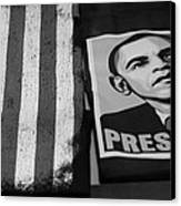 Commercialization Of The President Of The United States Of America In Black And White  Canvas Print by Rob Hans