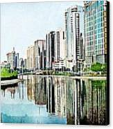 Corniche Gardens Canvas Print by Peter Waters