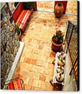 Courtyard Of A Villa Canvas Print by Elena Elisseeva
