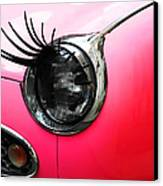 Cute Pink Car Canvas Print by Jasna Buncic