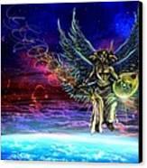 Descending Seraphim Canvas Print by Michael Schneider