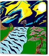 Fantasy Trees Canvas Print by Lewanda Laboy