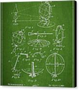 Folding School Globe Patent Drawing From 1887 Canvas Print by Aged Pixel