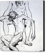 God The Father And God The Son Canvas Print by Henri Lehmann