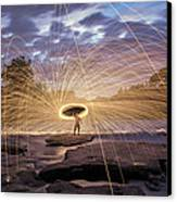 Halo On The American River Canvas Print