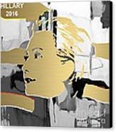 Hillary Clinton Gold Series Canvas Print by Marvin Blaine