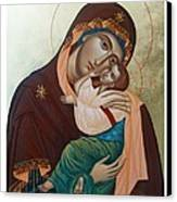 Holy Virgin Of Tenderness Canvas Print by Janeta Todorova