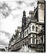 Hotel De Ville In Paris Canvas Print by Elena Elisseeva