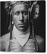 Indian Of North America Circa 1905 Canvas Print