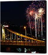 July 4th Fireworks In Pittsburgh Canvas Print