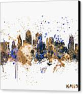 Kansas City Skyline Canvas Print by Michael Tompsett