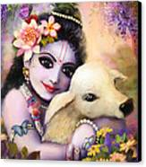 Krishna Gopal Canvas Print by Lila Shravani