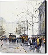 La Madeleine Paris Canvas Print by Eugene Galien-Laloue