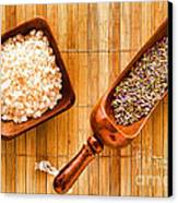 Lavender Seeds And Bath Salts Canvas Print