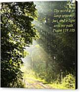 Light Unto My Path Canvas Print
