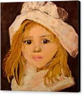 Little Girl Canvas Print by Joseph Hawkins