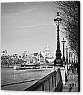 London View From South Bank Canvas Print