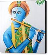 Lord Krishna Canvas Print