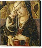 Madonna And Child Canvas Print by Carlo Crivelli