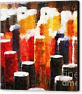 Many Wine Bottles Painting Canvas Print by Magomed Magomedagaev