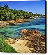 Mediterranean Coast Of French Riviera Canvas Print by Elena Elisseeva
