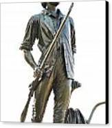Minute Man Statue Concord Massachusetts Canvas Print by Staci Bigelow