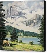 Morning At The Glacier Canvas Print
