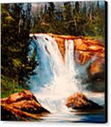 Mountain Falls Canvas Print by Robert Carver