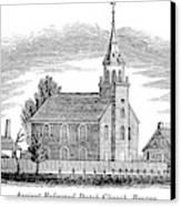 New Jersey Church, 1844 Canvas Print