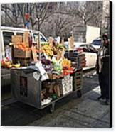 New York Street Vendor Canvas Print by Frank Romeo