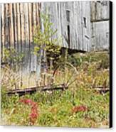 Old Barn In Fall Maine Canvas Print by Keith Webber Jr