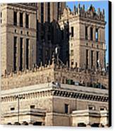 Palace Of Culture And Science In Warsaw Canvas Print by Artur Bogacki