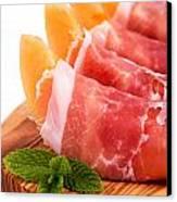 Parma Ham And Melon Canvas Print by Jane Rix