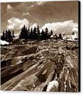 Pemaquid Rocks Canvas Print by Skip Willits