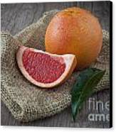 Pink Grapefruit Canvas Print by Sabino Parente
